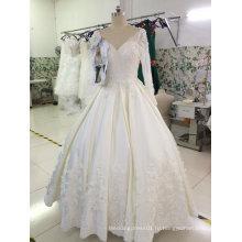 Популярная Линия Продажи Настроить Тонкий Свадебное Платье