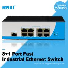 Dual-Stromversorgung Din-Schiene unmanaged 100M 9 Port Industrial Ethernet-Switch