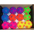 Flashing Rainbow Soccer Balls