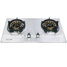 2 Burner Golden Brass Burner Cap Built-in Hob