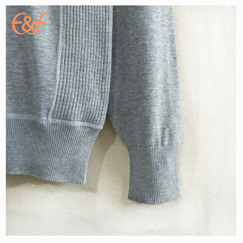 New Fashion Mens Korean Style Round Neck Grey Sweater