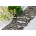 Curtain Trims Grey Beaded Tassel Frange pour rideau Accessoire, Hangzhou Fabricant