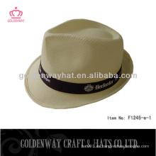 Sombrero del fedora del poliester barato para la venta para el regalo de la promoción con llevado