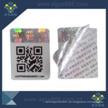 Qr Code Aufkleber mit Hologramm