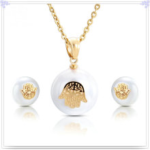 Pearl Jewelry Fashion Accessories Stainless Steel Jewelry Set (JS0200)