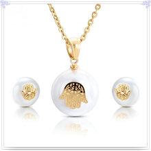 Pérola jóias acessórios de moda Jóias de aço inoxidável conjunto (JS0200)