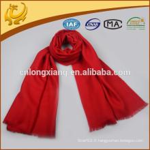 Promotion Factory Price Écharpe classique en laine de chevrons rouge