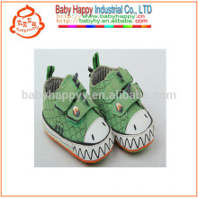 Green cute dinosaur safety canvas shoes wholesale