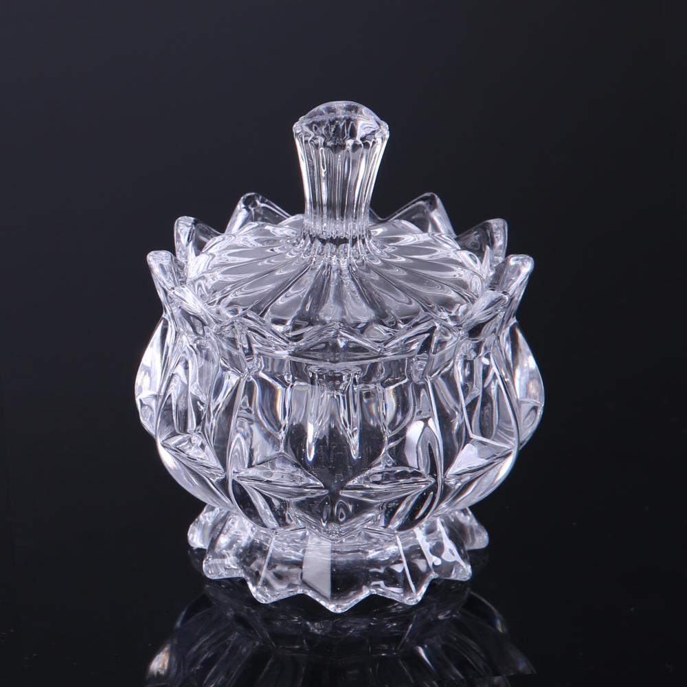 Br 1726crystal Glass Candy Box Storage Jar With Lid