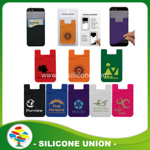Hot selling silicone mobile phone case card holder