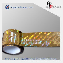 Hologram effect wrapping Metallized Tape with customize printed