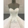 Vestido de novia de encaje 2018 para niña de talla grande Vestido de novia sin tirantes