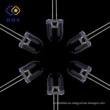10 mm redondas led IR 940nm claro de agua de fabricación profesional