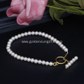 3-5MM Round White Freshwater Pearl Bracelets