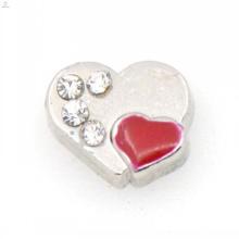 Pave coeur charmes, bijoux en forme de coeur rouge