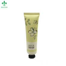 Guangzhou plastic cosmetic hand cream tube with octagonal cap