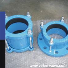 Ferro dúctil Pn10 / Pn16 / adaptador Ss304 / Ss316 de aço inoxidável China da flange