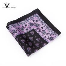 Silk Woven Jacquard Striped Necktie Cuff link Pocket Square