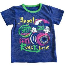 T-shirt de bebê de lavagem 3D crianças em roupas de crianças com algodão qualidade Sqt-613