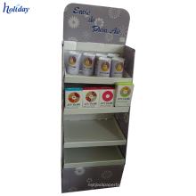 Cartón de soporte estable de 4 niveles para una variedad de productos.