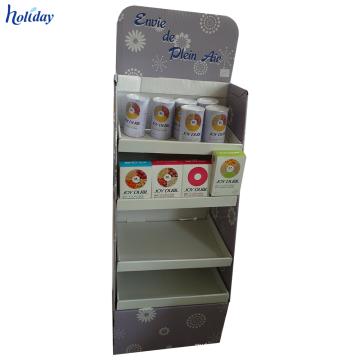 4-Tier-dauerhafte stabile Ausstellungsstand-Pappe für eine Vielzahl von Produkten.