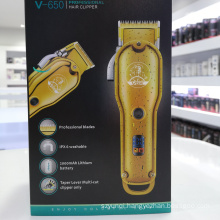 2021 New Arrivals VGR V650 Professional Rechargeable Hair trimmer Electric Usb Hair Clipper