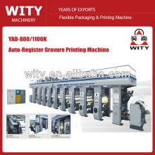 Máquina de impressão de rotogravura YAD-800 / 1100K 8color Auto Register
