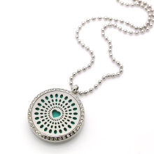 30MM diffuser locket pendant with CZ crystal