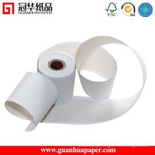 ISO Top Verkauf POS Carbonless Papierrolle mit rotem Streifen