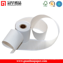 Rodillo de papel autocopiativo POS sin costura de la ISO con la raya roja