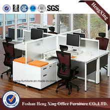4 Seats Modern Office Partition with Storage Cabinet (HX-6M209)