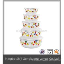 Korean portable shampoo enamel ice bowl