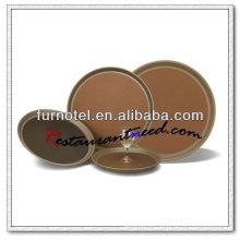Bandeja de alimentos antideslizante redonda de la alta calidad PP de P138 PP