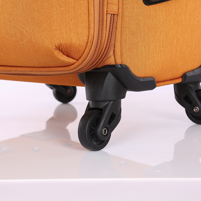 3 pieces new design lightweight soft trolley luggage 5