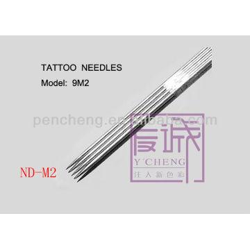 50 Pack Aiguilles de tatouage stériles et jetables pré-fabriquées sur les aiguilles de bar / magnum