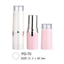 Tube cosmétique rond rouge à lèvres en plastique