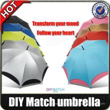 """Fabricantes de guarda-chuva 23 """"guarda-chuva engraçado automático do projeto do punho 8k especial com cópias do logotipo"""