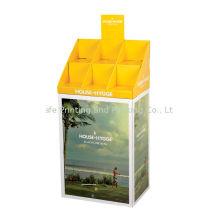 Vegetable And Fruit Cardboard Display Shelf Customized Size For Supermarket