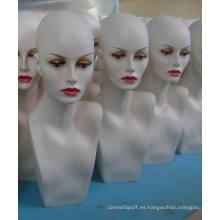 Maniquí de fibra de vidrio cabeza GRP peluca maniquí cabeza exhibir la cabeza del maniquí