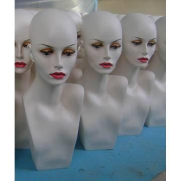Hot Fiberglass Mannequin Head GRP Wig Mannequin Head Display Mannequin Head