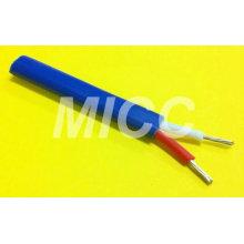Tipo KX-2x24AWG PVC / PVC - fio de extensão do par termoeléctrico de JIS / fio isolado pvc