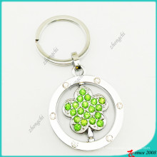 Wholesale Green Flower Crystal Alloy Key Chain (KR16041920)