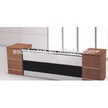 Recepção de móveis de escritório, mistura de madeira Wenge cor branca (KM925)