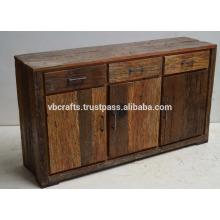 Reclaimed railway sleeper wood sideboard