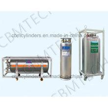 Medical Cryogenic Liquid Oxygen Dewar Cylinders