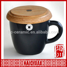 HCC ceramic bamboo coffee cup and saucer set