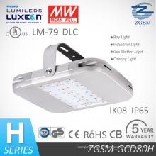 IP66 Ik10 80W évalué LED haute baie avec pilote bien moyenne et copeaux de Philips