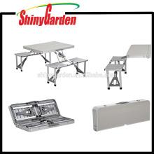 Portable MDF Aluminium Klapptisch und Stuhl für den Außenbereich