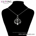 34140 xuping fashion Special design black gun color cool  heart shape skull  pendant