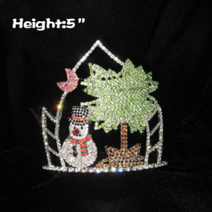 Crystal Snowman Christmas In July Pageant Crowns